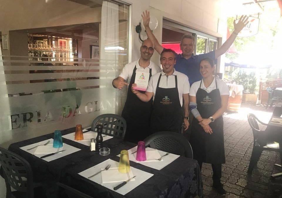 Nous remercions toute l'équipe du Restaurant Da Gianni à Genève, partenaire TOIT POUR TOUS